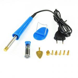 X4-TOOLS Strasssteinkolben-Set 10 tlg. 6 Watt / mit zahlreichen Wechselaufsätzen