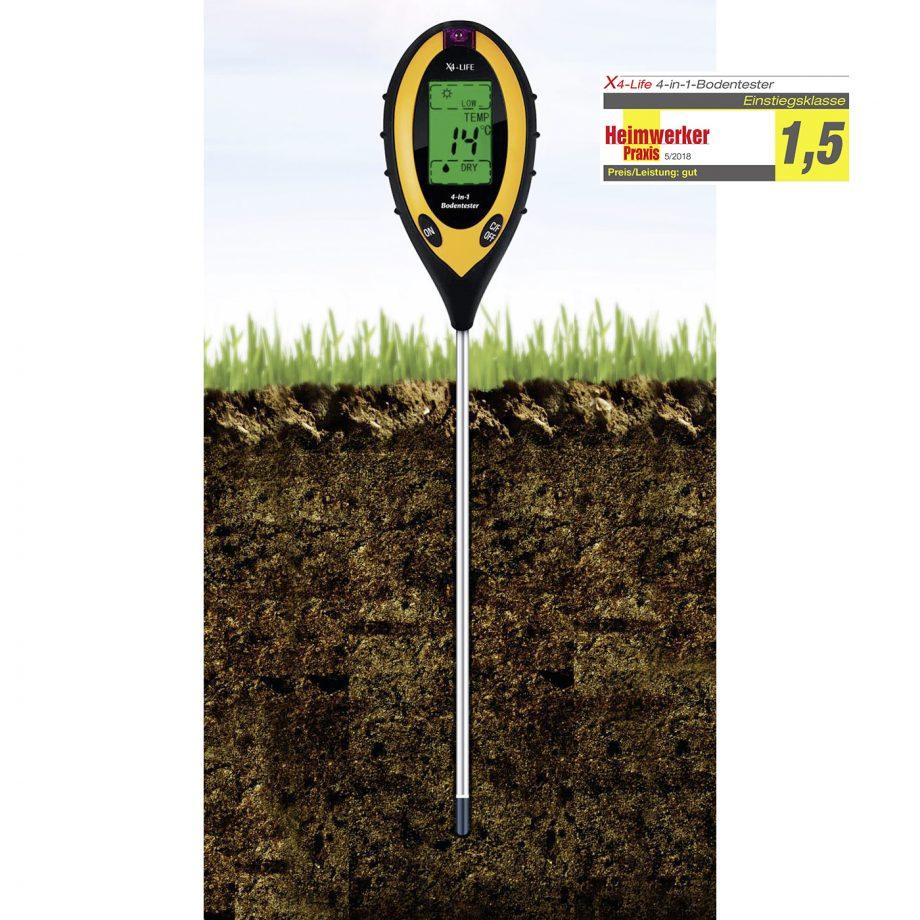 Bodenmessgerät Test feuchtigkeit