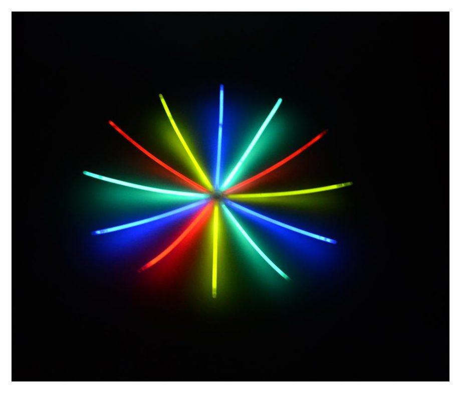 Leuchtstab 25 Stück bunt und verschiedene Farben