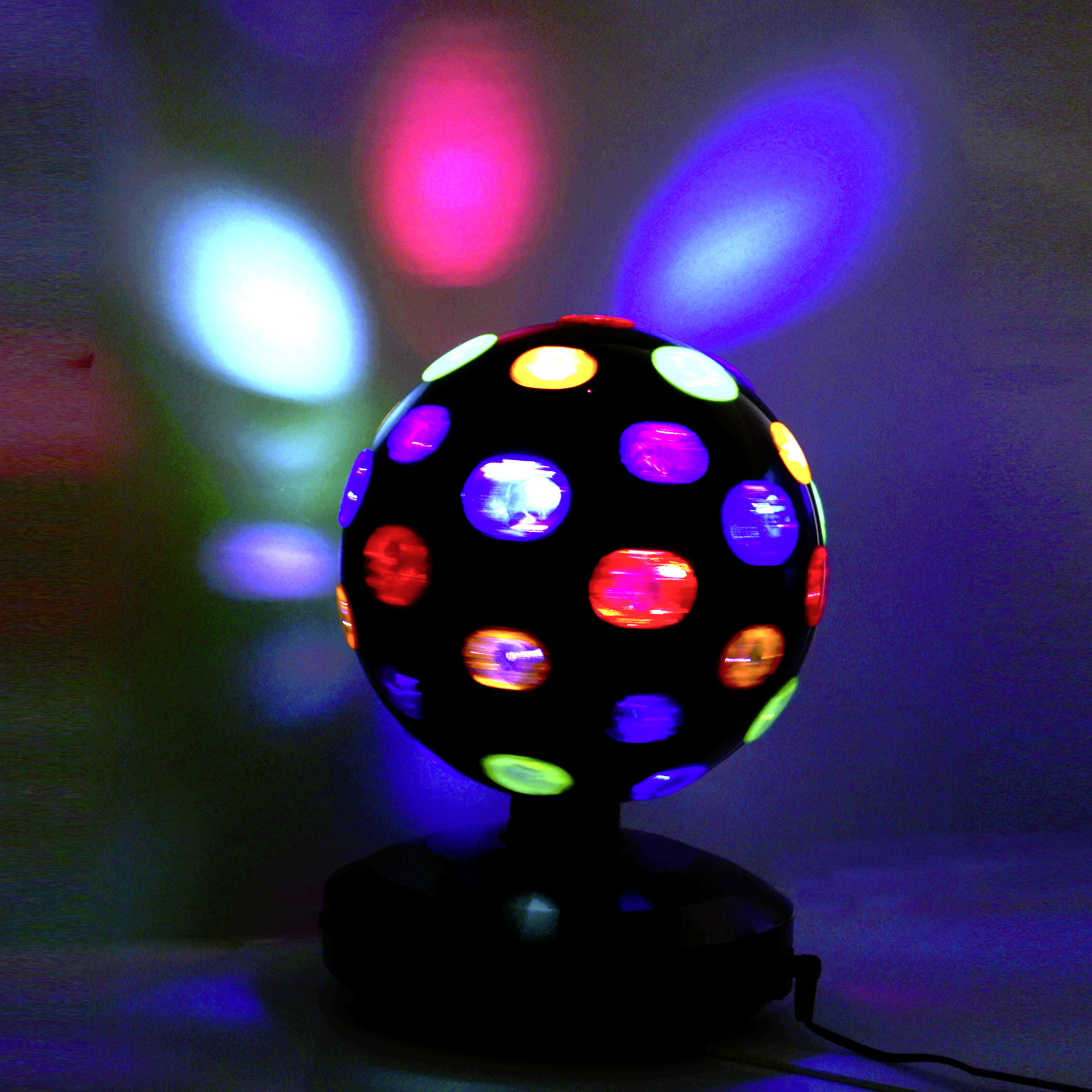X4-LIFE Color Discokugel L Lichteffekt rotierende Partybeleuchtung farbig