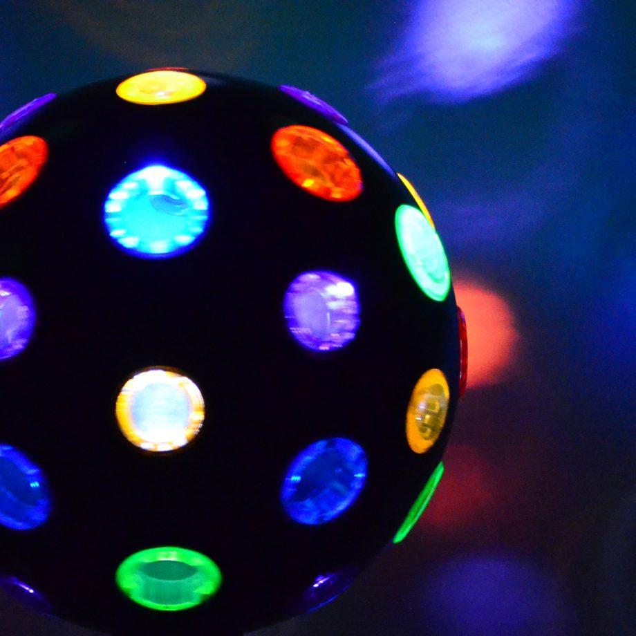 Discokugel partylicht rotierend decke
