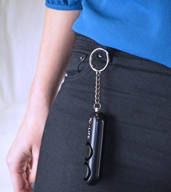 schwarzer Taschenalarm Personenalarm
