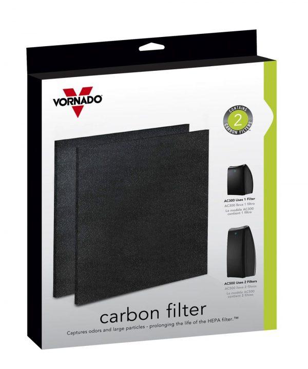 Vornado Aktivkohlefilter für True HEPA Luftreiniger AC300 AC500 Filter 2er-Set