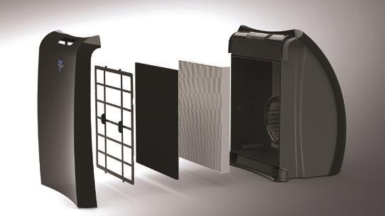 Vornado Luftreiniger reinigt und filtert die ganze luft