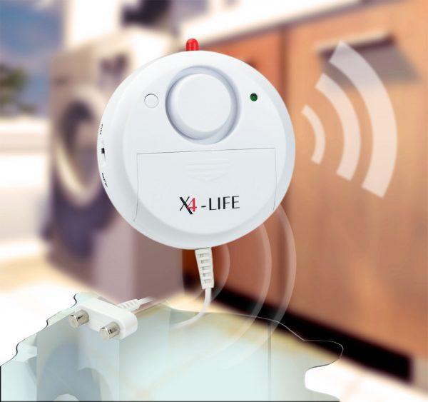 X4-LIFE Security Wasser-Alarm Wassermelder Wasserwächter Wasser Alarm