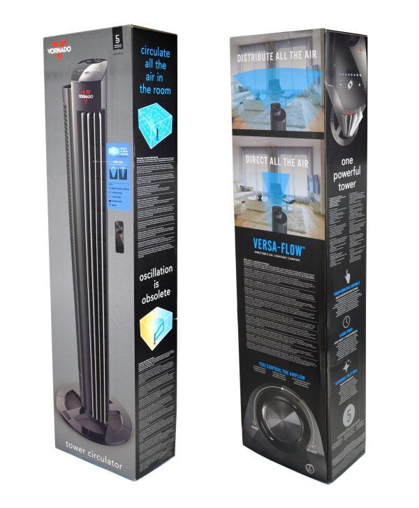 Vornado AC Tower M / Ventilator / Zirkulator / 84cm / 21m Reichweite / Remote