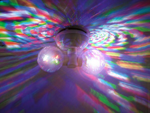 decken discokugel alle farben LED