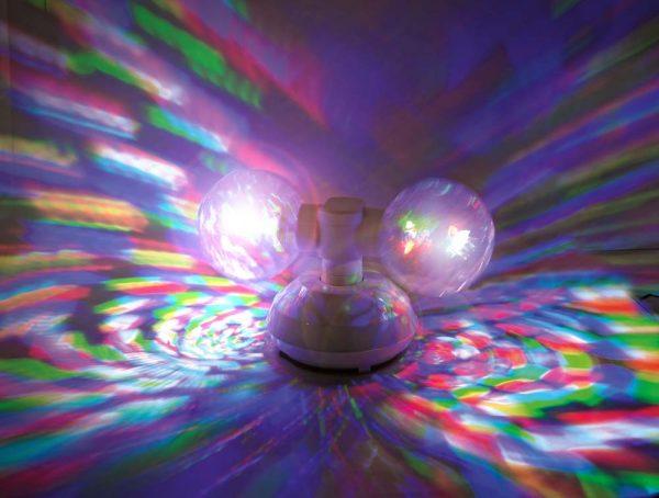LED Discokugel bunt