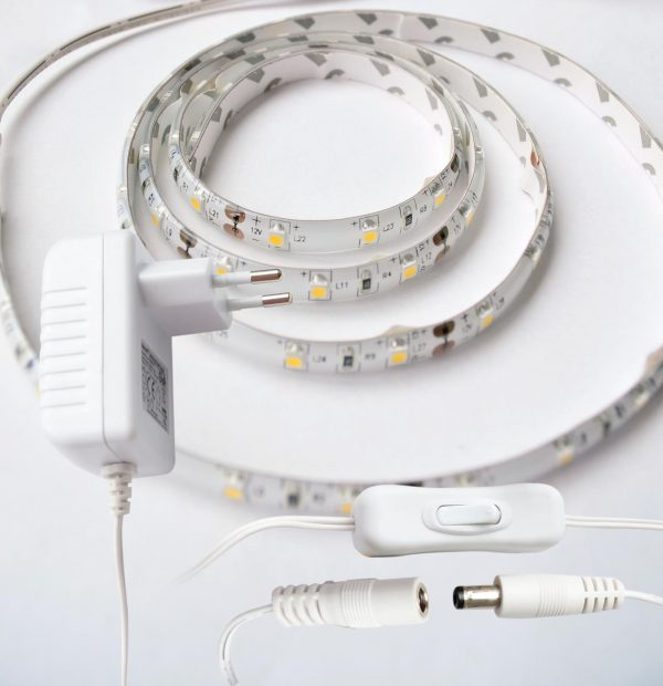 weißes LED Band Strip 1m kabel