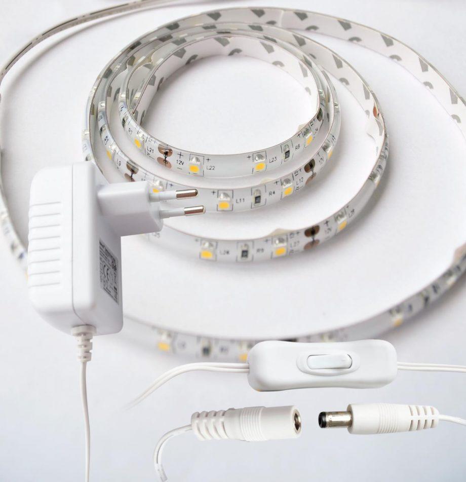 weißes LED Band Strip 1m kabel