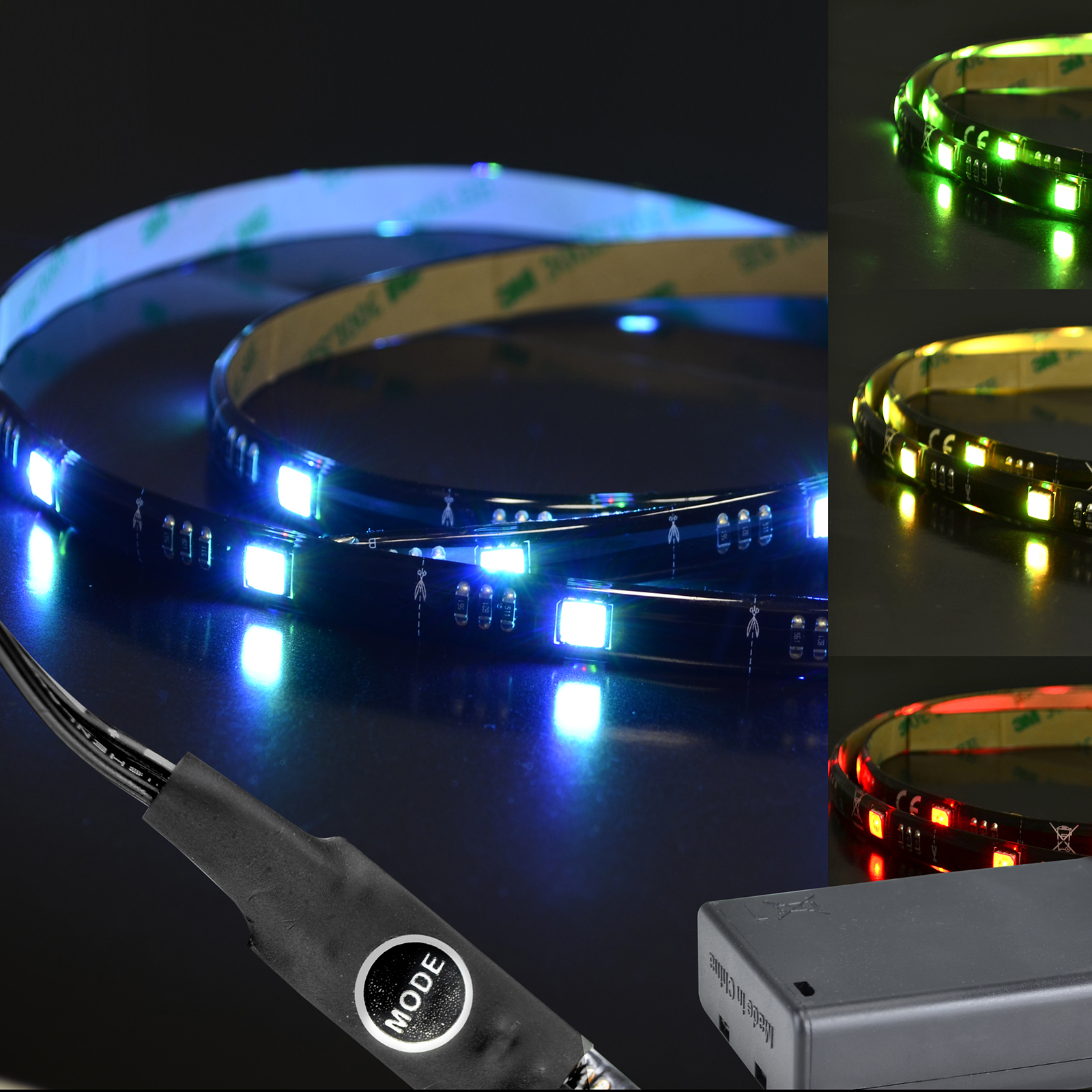 Berühmt X4-LIFE RGB LED Band 1m SMD5050 Batterie / Selbstklebend / IP65 FJ44