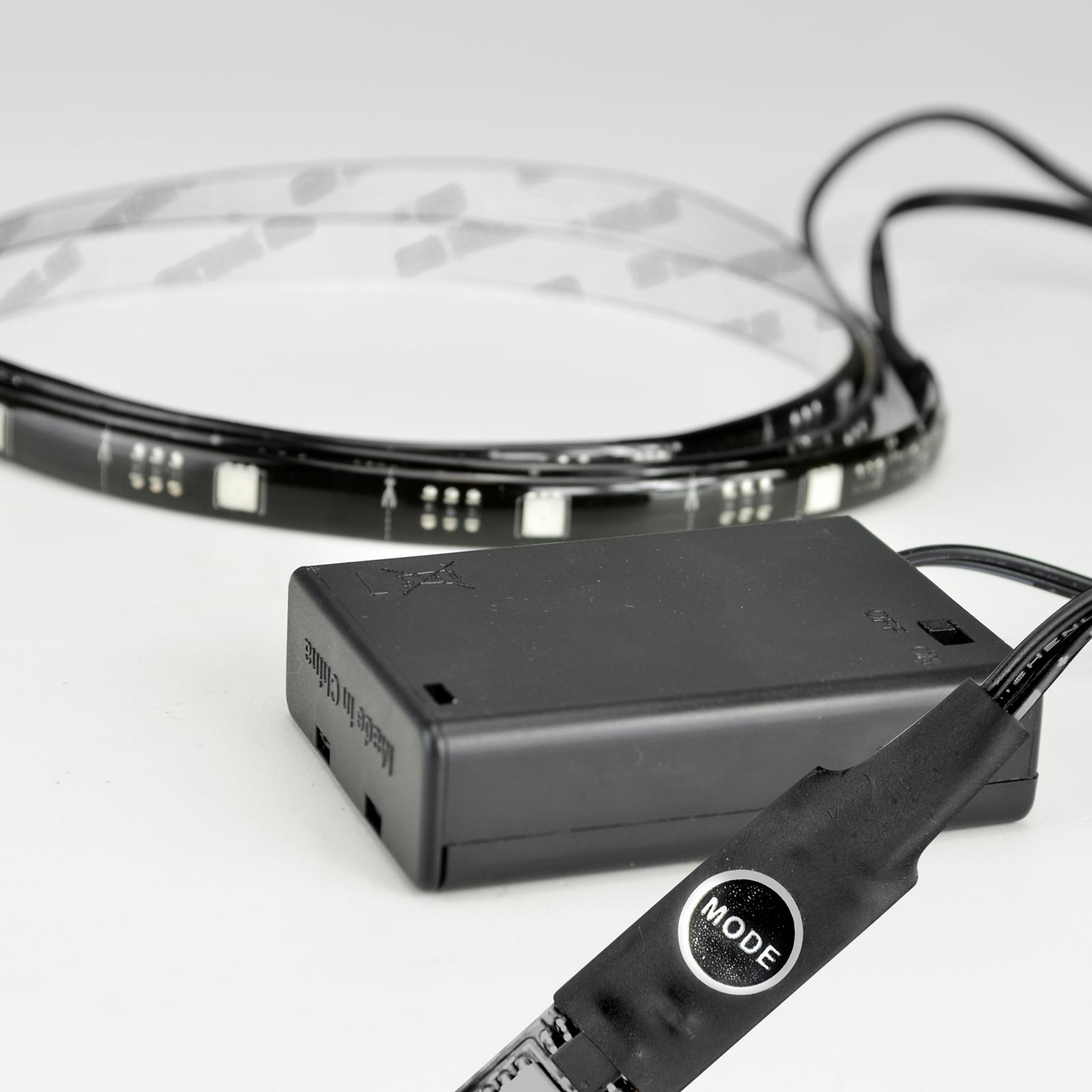 Berühmt X4-LIFE RGB LED Band 1m SMD5050 Batterie / Selbstklebend / IP65 DK65