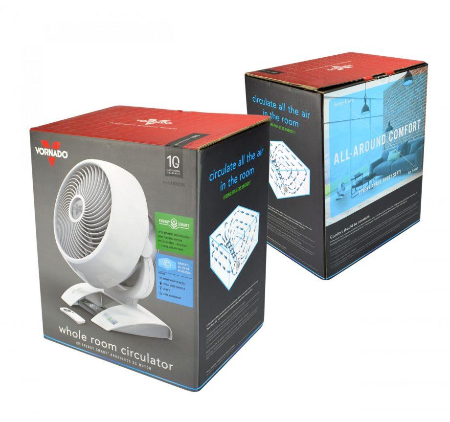 Weißer Ventilator zirkulator