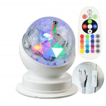 Rotierende LED Partyleuchte RGB+W