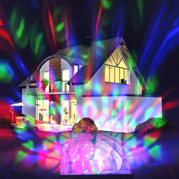X4-LIFE Outdoor LED Discostrahler RGB+W inkl. Erdspieß/Dreifuß