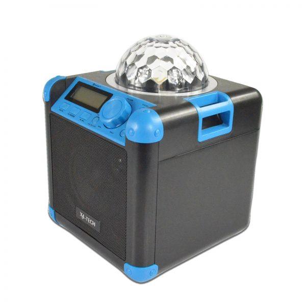 Musikanlage bluetooth mit discokugel licht