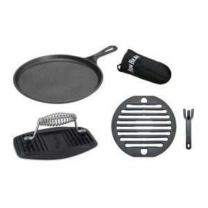 JIM BEAM Gusseisernes Grillrost 5-in-1 Set JB0184 / Grillparty / Hitzeschutz