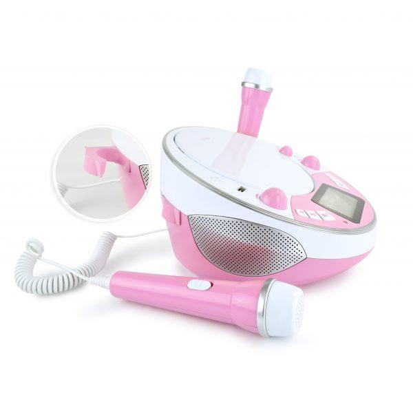 Mikrofon zum mitsingen rosa player