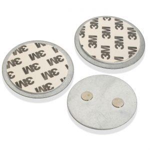 X4-LIFE 3x Security Magnetplatten für Rauchmelder / 59 mm Durchmesser