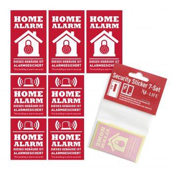 Rot und weiße Sticker alarmgesichtert gegen einbrecher