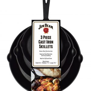 Verpackt 3er set der Bratpfannen Jim Beam