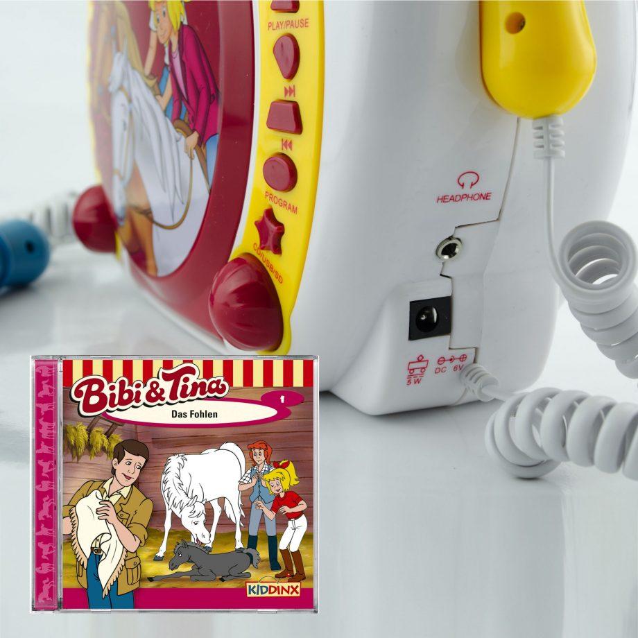 Bibi und Tina CD/MP3 Player mit Karaokefunktion