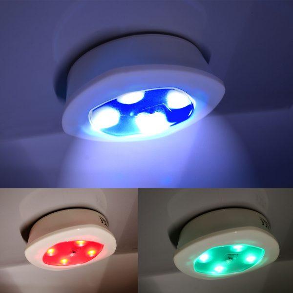 Bunte Beleuchtung zum Ankleben